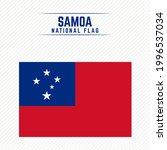 national flag of samoa stylish... | Shutterstock .eps vector #1996537034