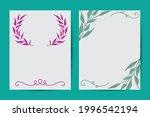 vector botanical banners set... | Shutterstock .eps vector #1996542194
