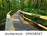 walkway through the woods | Shutterstock . vector #199658567