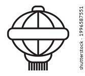 chinese lantern line art vector ... | Shutterstock .eps vector #1996587551