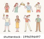 a collection of many people... | Shutterstock .eps vector #1996596497