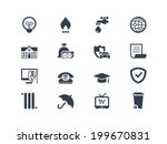 pay bills icons | Shutterstock .eps vector #199670831