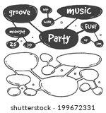 horizontal comic mind scheme... | Shutterstock .eps vector #199672331