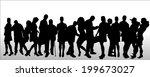 vector silhouettes of different ... | Shutterstock .eps vector #199673027