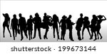 vector silhouettes of different ... | Shutterstock .eps vector #199673144