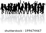children silhouettes | Shutterstock .eps vector #199674467