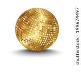 golden disco ball | Shutterstock .eps vector #199674497