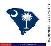 map and flag of south carolina  ...   Shutterstock .eps vector #1996747541