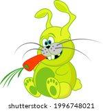 funny  unusual  crazy rabbit... | Shutterstock .eps vector #1996748021