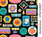various patches  pins  stamps ... | Shutterstock .eps vector #1996760807