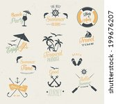 summer vector set | Shutterstock .eps vector #199676207
