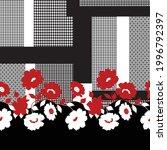 seamless flower border pattern... | Shutterstock .eps vector #1996792397