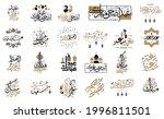 happy eid. calligraphy set.... | Shutterstock .eps vector #1996811501
