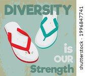 diversity things. slipper pair...   Shutterstock .eps vector #1996847741