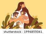 happy woman feeling love ... | Shutterstock .eps vector #1996855061