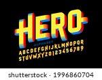 super hero style comics 3d font ... | Shutterstock .eps vector #1996860704