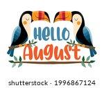 hello august  summer greeting... | Shutterstock .eps vector #1996867124