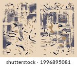 artistic vector textures set ... | Shutterstock .eps vector #1996895081
