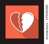 vector valentine heart flat icon | Shutterstock .eps vector #199690385