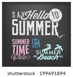 summer calligraphic designs in... | Shutterstock .eps vector #199691894