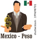 mexico national currency... | Shutterstock .eps vector #199698701