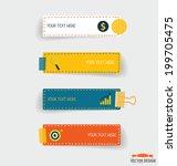 note papers. vector... | Shutterstock .eps vector #199705475