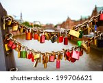Locks On Historical Bridge In...