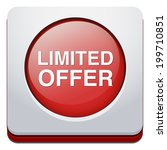 limited offer button | Shutterstock .eps vector #199710851