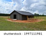 Horse Barn Built With Post...
