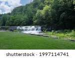 The Lower Falls in Taughannock Falls State Park Near Lake Cayuga in the Finger Lakes District.