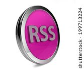 rss circular icon on white... | Shutterstock . vector #199713224