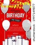 happy birthday vector...   Shutterstock .eps vector #1997149877