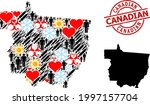 textured canadian stamp seal ... | Shutterstock .eps vector #1997157704