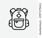 school bag icon  isolated...