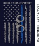 honor serve protect usa thin... | Shutterstock .eps vector #1997179094