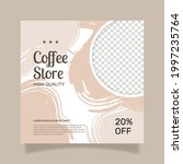 coffee shop squared flyer... | Shutterstock .eps vector #1997235764