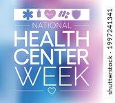 national health center week is...   Shutterstock .eps vector #1997241341