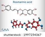 rosmarinic acid  molecule. it... | Shutterstock .eps vector #1997254367