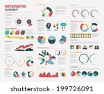 big set of infographics elements | Shutterstock .eps vector #199726091