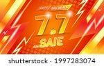 vector template 7.7 flash sale... | Shutterstock .eps vector #1997283074