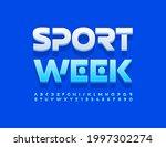 vector modern banner sport week....   Shutterstock .eps vector #1997302274