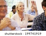 senior student in class | Shutterstock . vector #199741919