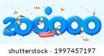 200000 followers thank you 3d... | Shutterstock .eps vector #1997457197