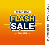 simple colorful flash sale... | Shutterstock .eps vector #1997461577