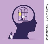 head with personal mental trap...   Shutterstock .eps vector #1997463947