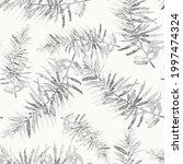 seamless pattern with fir tree... | Shutterstock .eps vector #1997474324