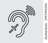 ear icon  vector. deafness icon. | Shutterstock .eps vector #1997491034