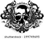 human skull decorative | Shutterstock .eps vector #199749695