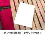 mockup template of paper book...   Shutterstock . vector #1997499854