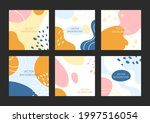 abstract shapes background.... | Shutterstock .eps vector #1997516054